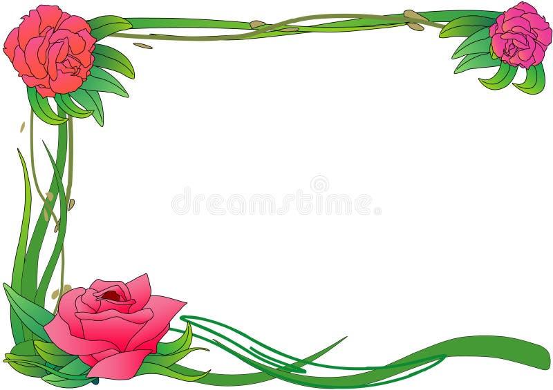 Cadre de Rose illustration de vecteur