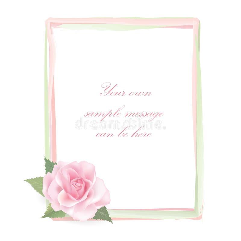 Cadre de Rose de fleur d'isolement sur le fond blanc. Décor floral. illustration libre de droits
