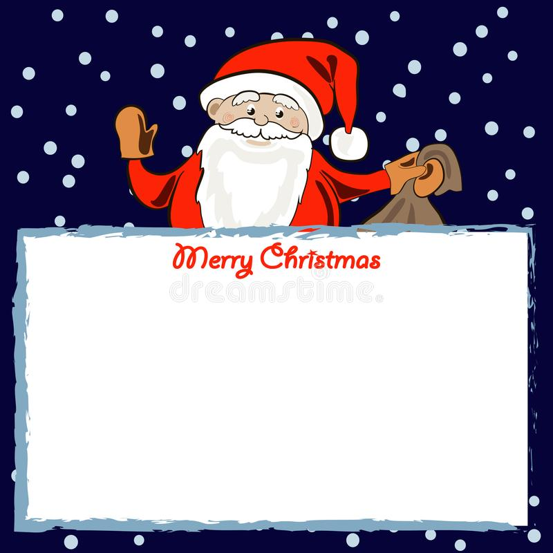 Cadre de Santa illustration stock
