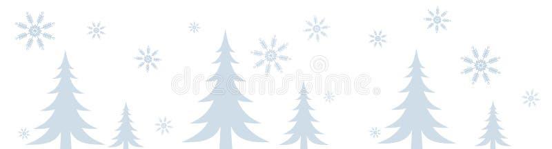 Cadre de scène de l'hiver de Milou illustration libre de droits