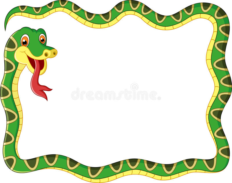 Cadre de serpent de bande dessinée