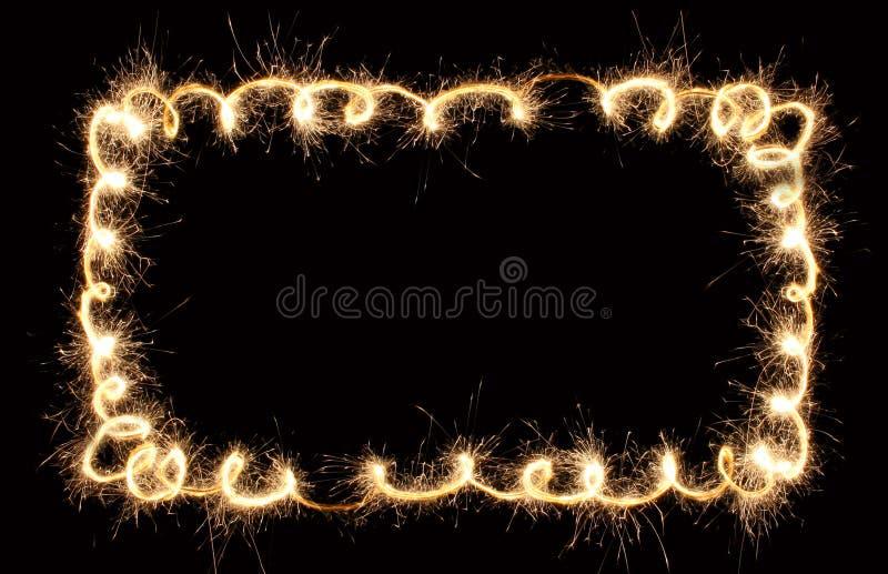 Cadre de sparkler de CONFETTIS photos libres de droits