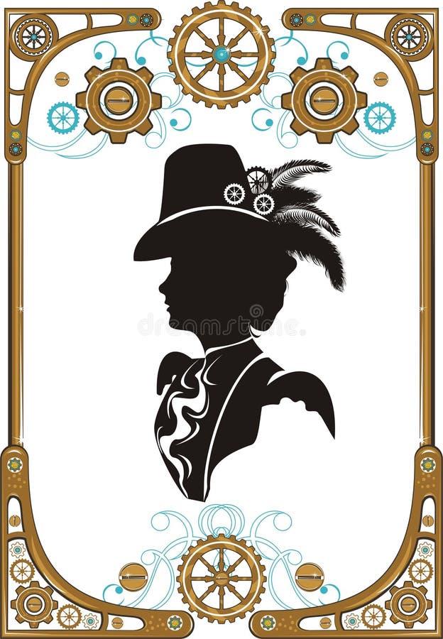 Cadre de style de Steampunk illustration stock