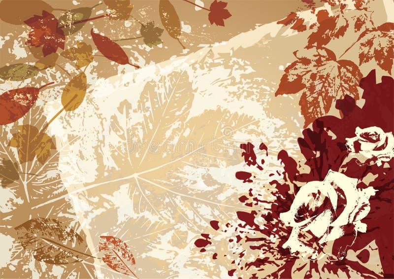 Cadre de style de fond de vecteur d'automne rétro illustration libre de droits