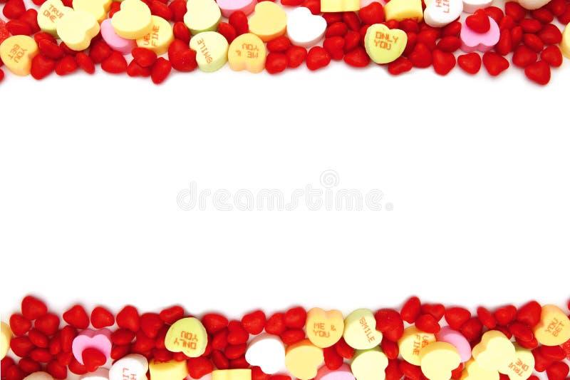 Cadre de sucrerie de jour de Valentines images libres de droits