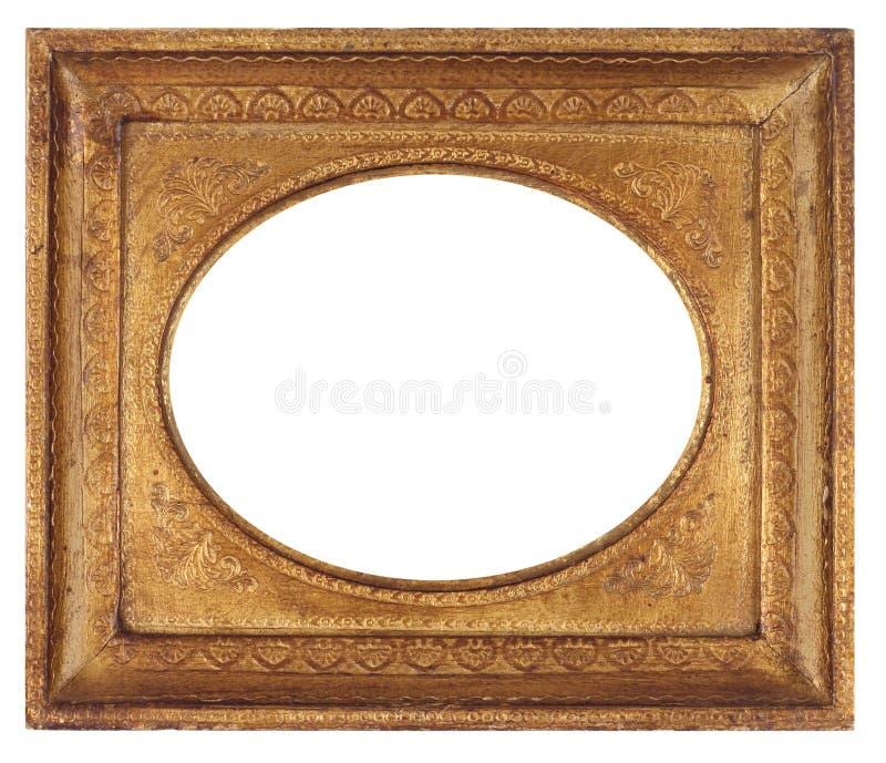 Cadre de tableau antique ovale photos libres de droits