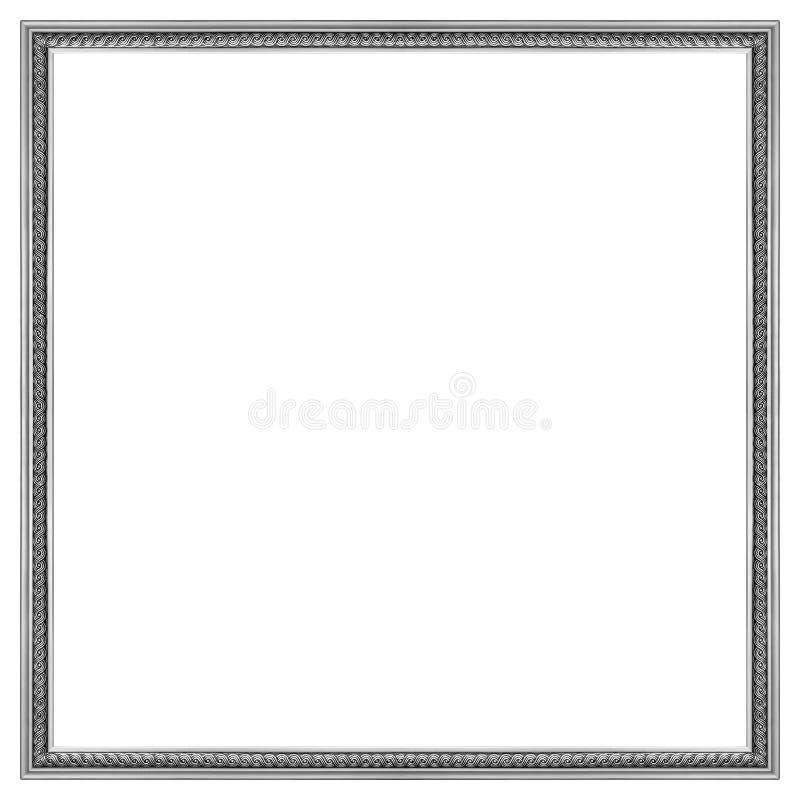 Cadre de tableau argenté photographie stock