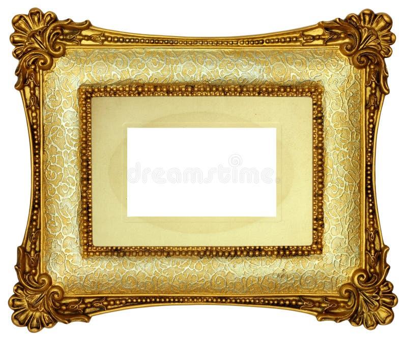Cadre de tableau d'or photos libres de droits
