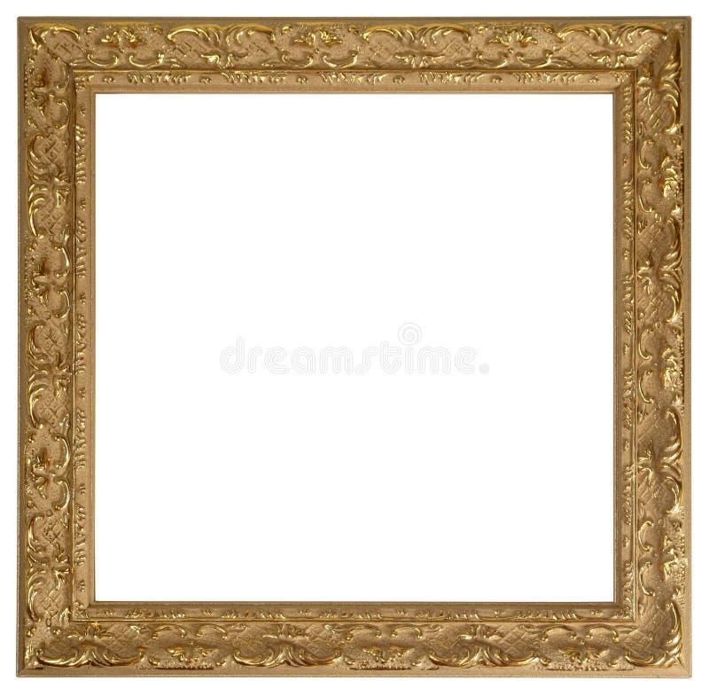 Cadre de tableau d'or photographie stock