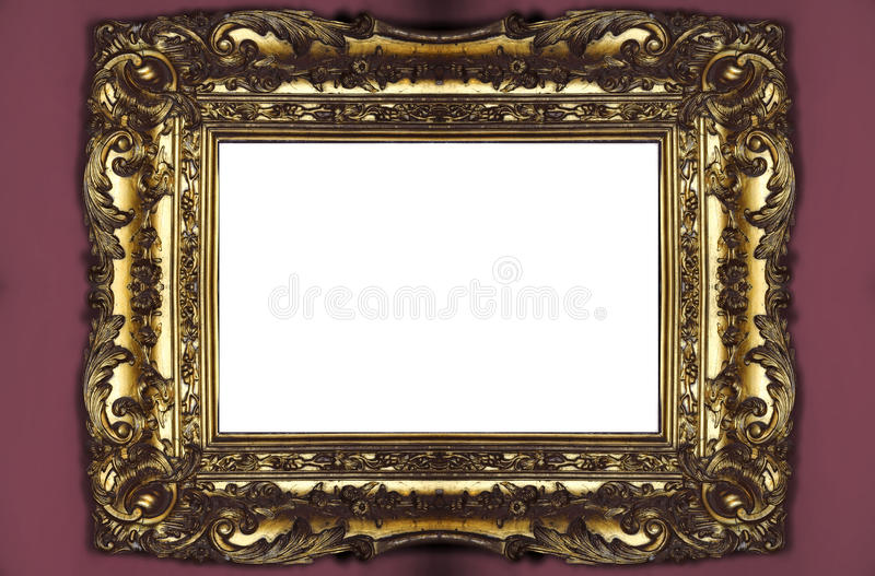 Cadre de tableau d'or images libres de droits