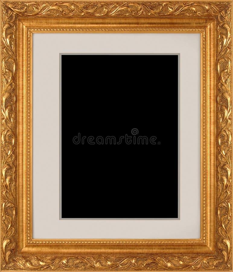 Cadre de tableau d 39 or photo stock image du illustration - Image de cadre de tableau ...