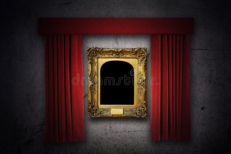 Cadre de tableau dans le projecteur photo stock