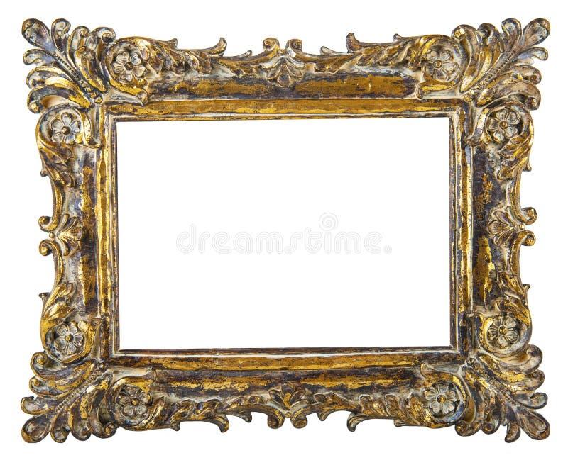 Cadre de tableau de fantaisie d'or photo stock