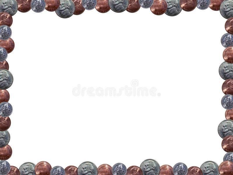 Cadre de tableau de pièce de monnaie photographie stock