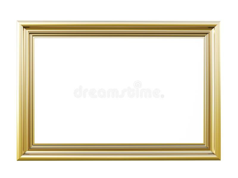Cadre de tableau de vintage d'isolement sur le blanc illustration stock
