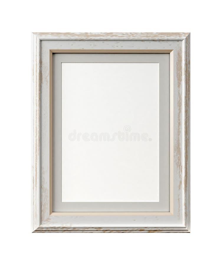 Cadre de tableau de vintage sur le blanc illustration de vecteur