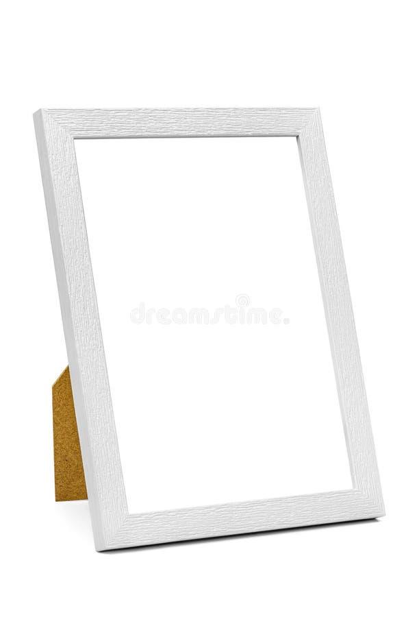 Cadre de tableau en bois blanc image stock