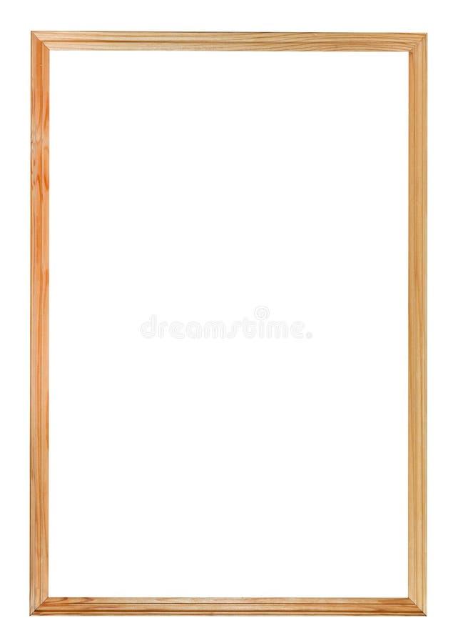 cadre de tableau en bois simple troit image stock image. Black Bedroom Furniture Sets. Home Design Ideas