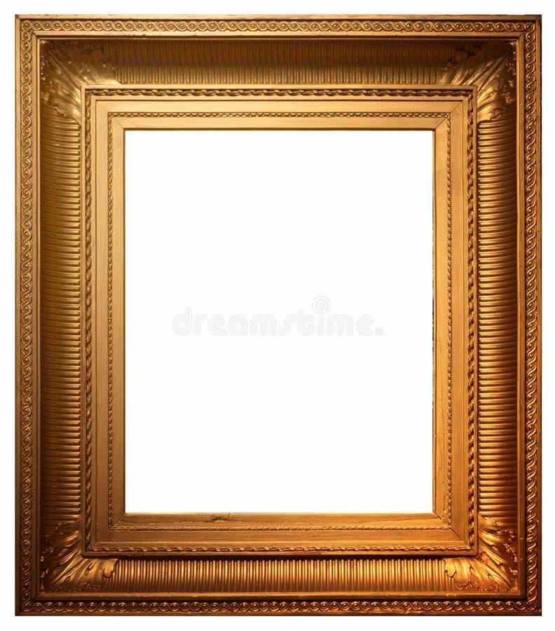 Cadre de tableau et fond blanc image stock
