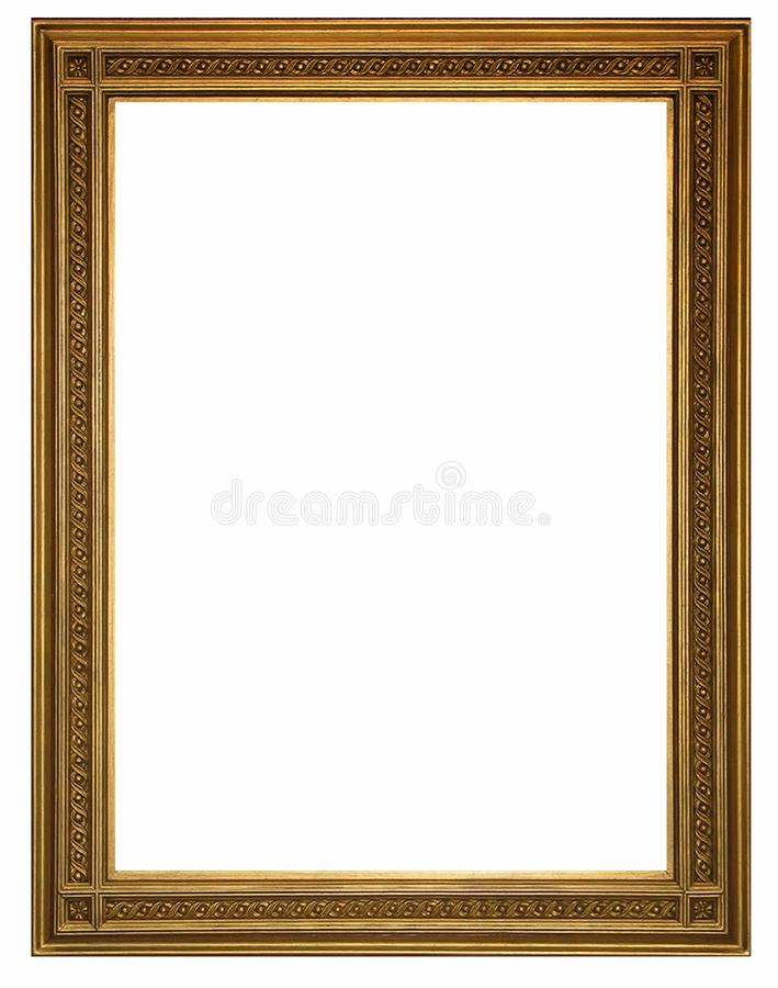 Cadre de tableau et fond blanc image libre de droits