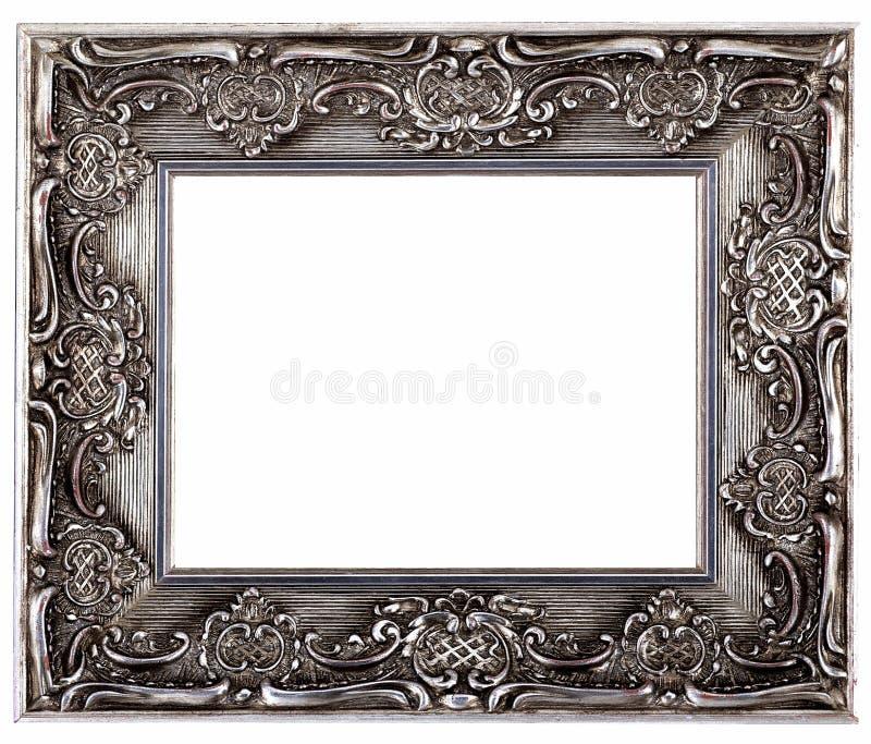 Cadre de tableau et fond blanc images stock