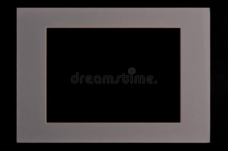 Cadre de tableau gris photographie stock