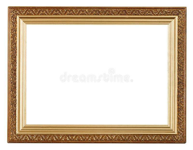 Cadre de tableau large d'or photo stock