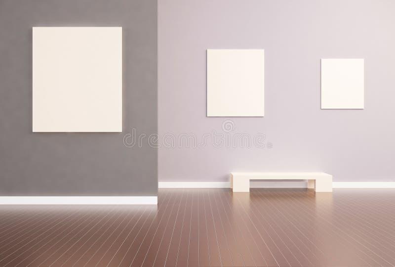 Cadre de tableau moderne de simplicité d'exposition illustration libre de droits