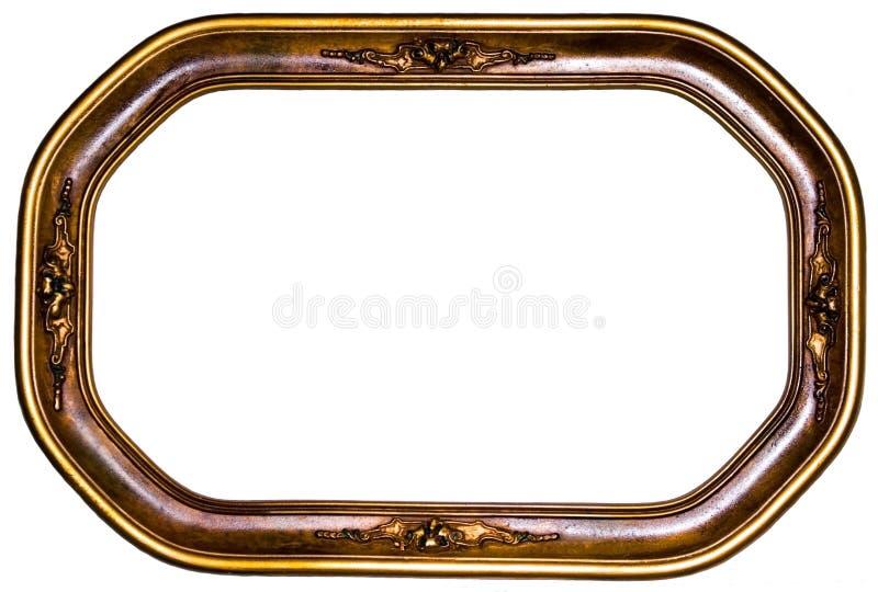 Cadre de tableau ovale antique images stock