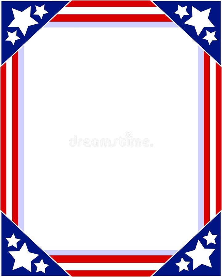 Cadre de tableau patriotique de drapeau américain illustration stock