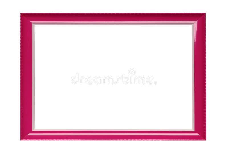 Cadre de tableau rose de couleur sur un fond blanc images libres de droits