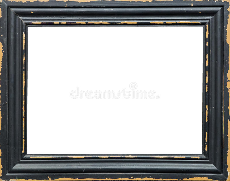 Cadre de tableau vide classique d'isolement sur le fond blanc photos stock