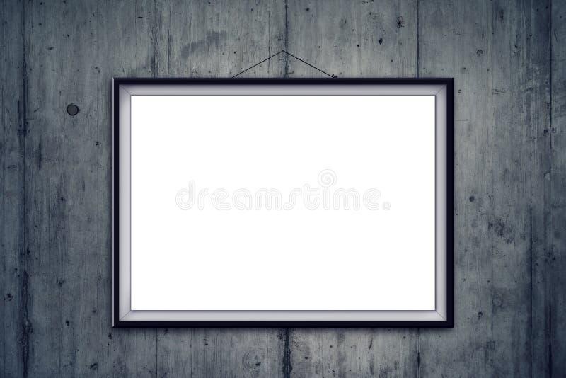 cadre de tableau vide sur le mur en b ton de galerie d 39 art photo stock image du concret. Black Bedroom Furniture Sets. Home Design Ideas