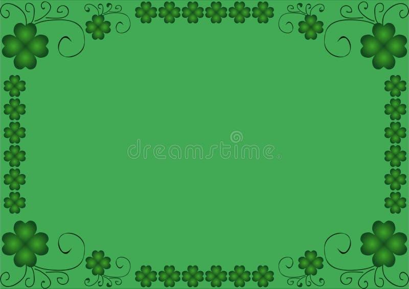 cadre de trèfle de quatre feuilles illustration stock