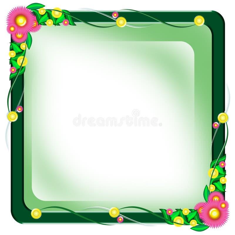 Cadre de trame de fleur illustration de vecteur