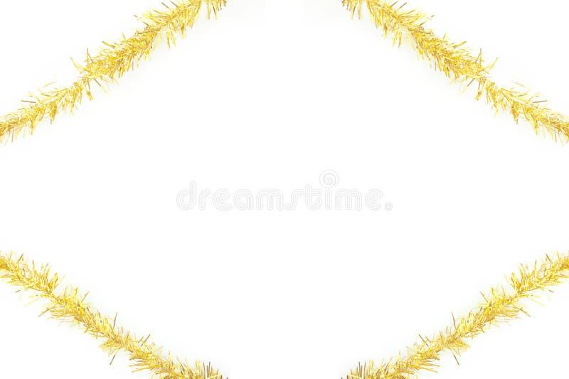 Cadre de tresse d'or illustration de vecteur