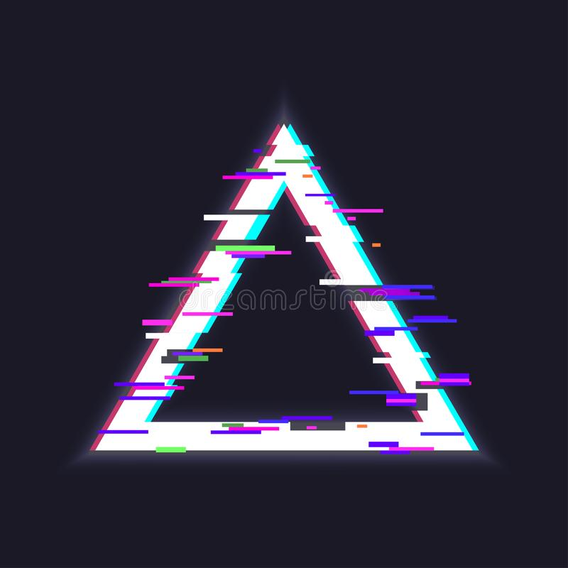 Cadre de triangle de Glitched illustration libre de droits