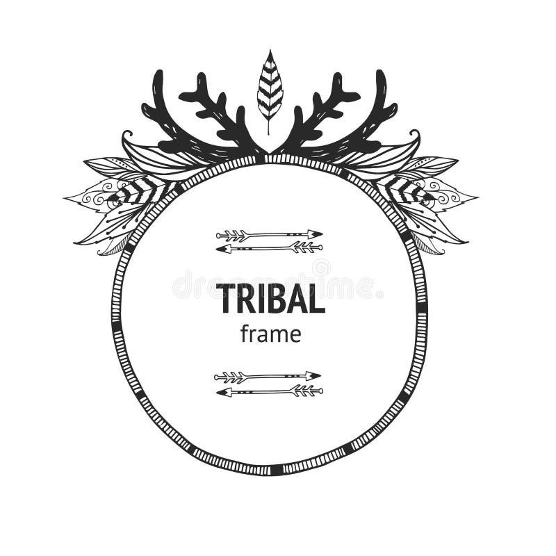 Cadre de tribal de vecteur illustration libre de droits