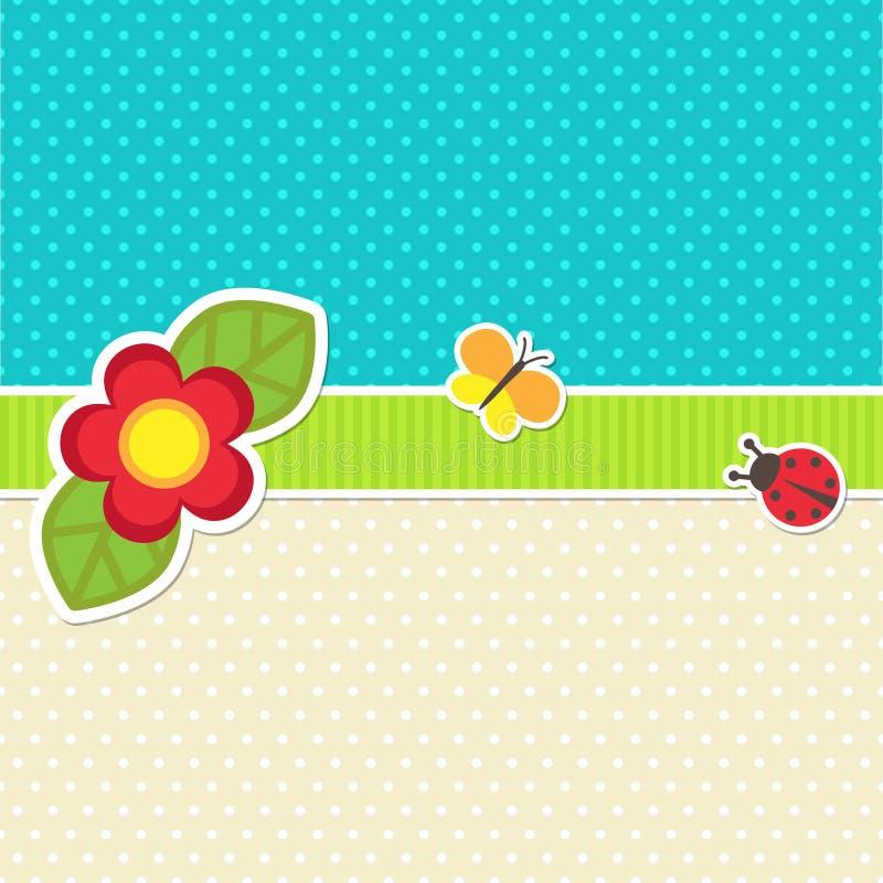Cadre de vecteur avec la fleur illustration de vecteur