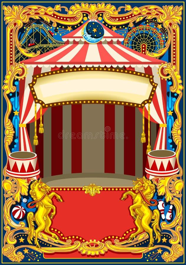 Cadre de vecteur d'affiche de cirque illustration stock