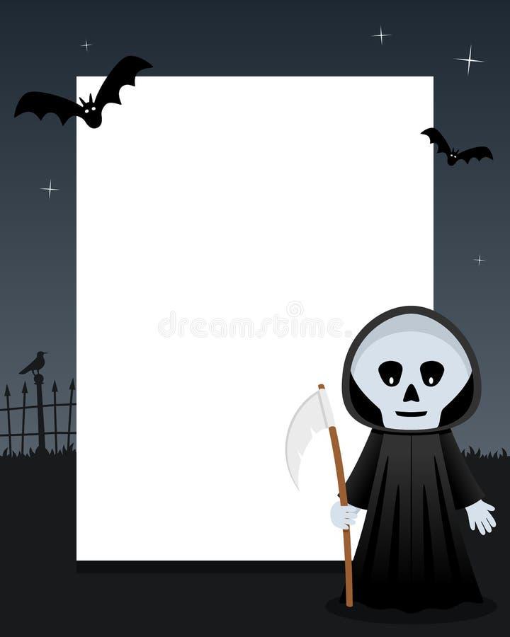 Cadre de verticale de Halloween de faucheuse illustration de vecteur