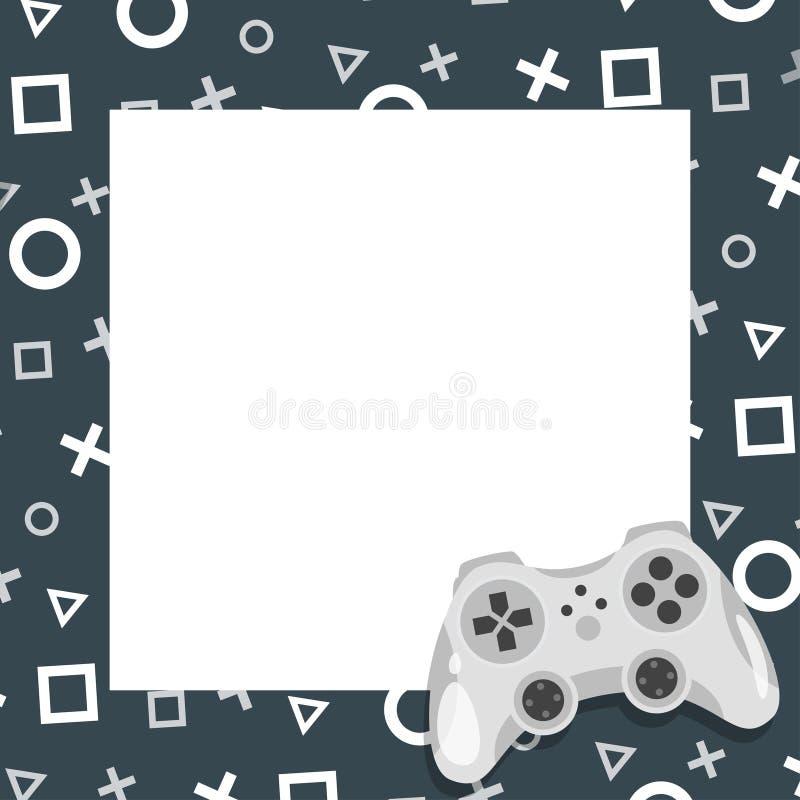 Cadre de vidéo et de photo de jeu illustration libre de droits