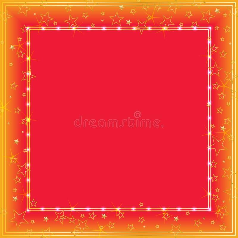 Cadre de vue d'étoile d'or illustration de vecteur