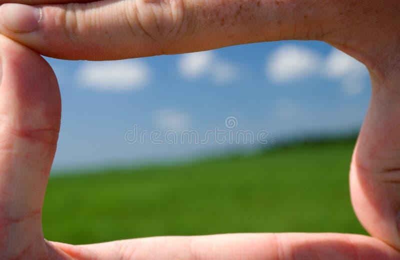 Cadre des doigts photo libre de droits