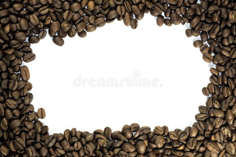 Cadre des grains de café fermant, avec un vide photo libre de droits