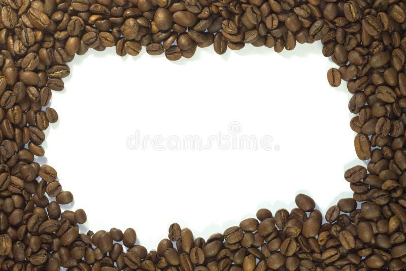 Cadre des grains de café fermant, avec un vide photo stock