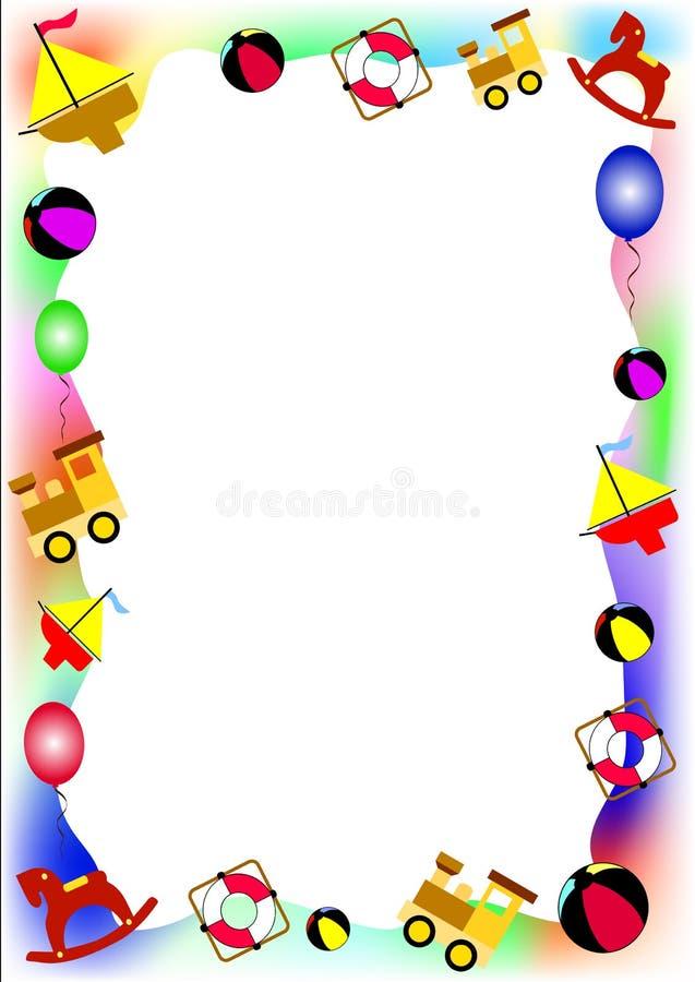 Cadre des jouets de chéri illustration de vecteur