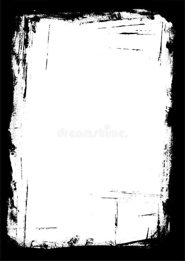Cadre des rappes de peinture illustration libre de droits
