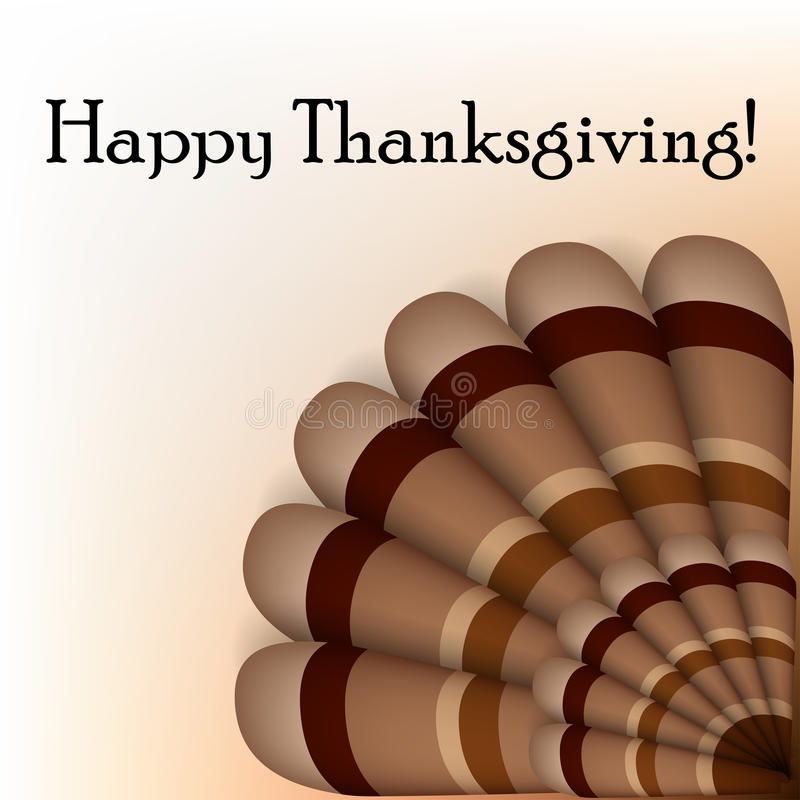 Cadre des textes de thanksgiving avec la queue de dinde illustration de vecteur