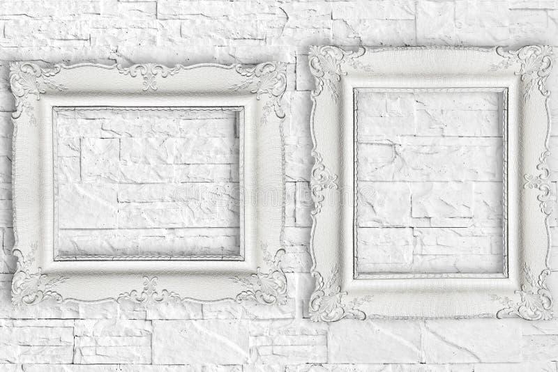 Cadre deux blanc différent photos stock